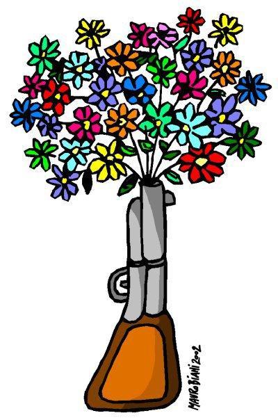 Fucile e fiori